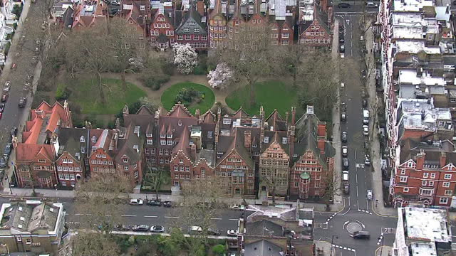 aerials showing large london houses expensive million pound plus properties located in exclusive areas of london chelsea kensington and westminster... - expense stock videos & royalty-free footage