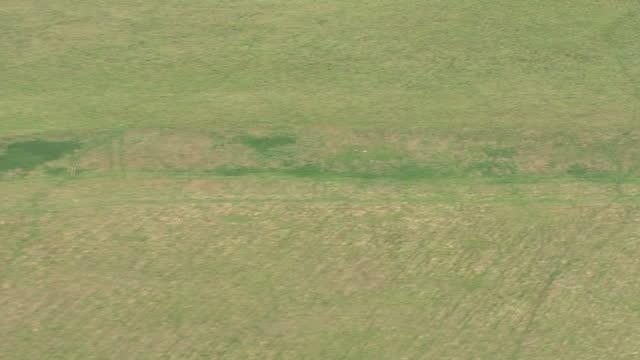 aerials 'superhenge' durrington walls site on september 07 2015 in wiltshire england - 石柱点の映像素材/bロール