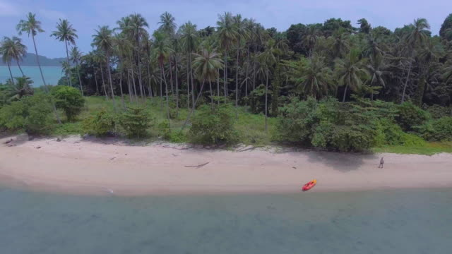 aerial:sailing to an island - desert island stock videos & royalty-free footage