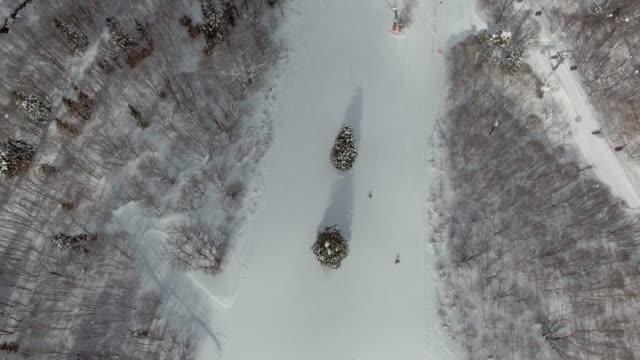 aerial:sking - slalom skiing stock videos & royalty-free footage