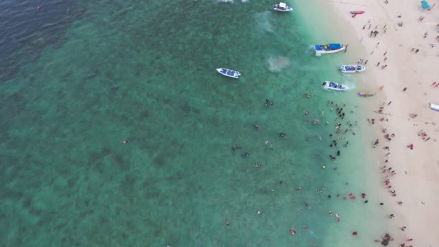 Aerial:Summer vacation on the Beach island