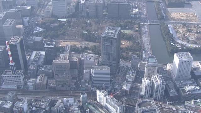 aerial,tokyo midtown hibiya, japan - tokyo midtown stock videos and b-roll footage
