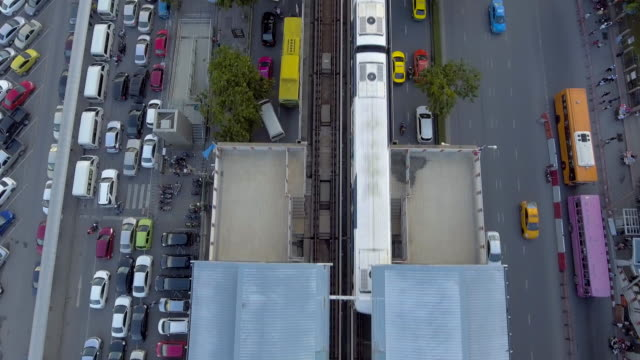 Aerial:Traffic and transport system in Bangkok