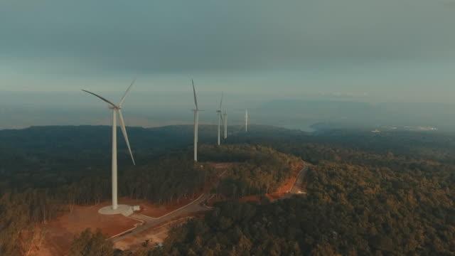航空写真: 風力タービン - 風力発電点の映像素材/bロール