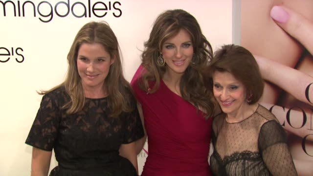 aerin lauder, elizabeth hurley and evelyn lauder at the bloomingdale's & the estee lauder companies kick off breast cancer awareness month at new... - aerin lauder stock videos & royalty-free footage