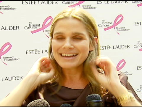 aerin lauder on how and why they approached gwyneth paltrow to be part of the 'pleasures' campaign, what estee lauder is doing to support breast... - aerin lauder stock videos & royalty-free footage