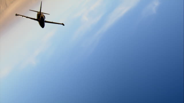 AIR TO AIR, WS, Aero L-39 Albatros flying over Mojave Desert, California, USA
