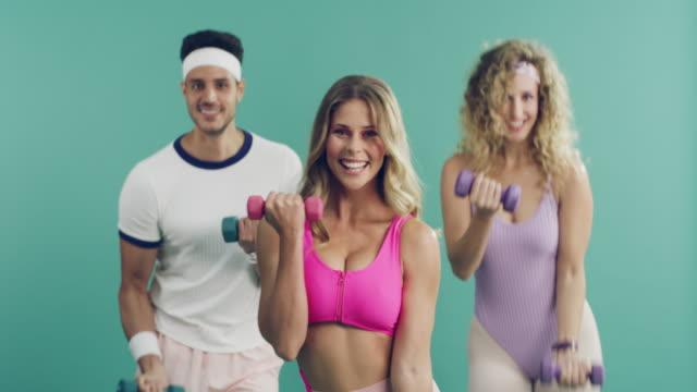 stockvideo's en b-roll-footage met aerobics voor de overwinning - aerobics