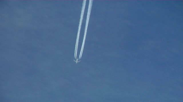 aeroplane contrail - track imprint stock videos and b-roll footage