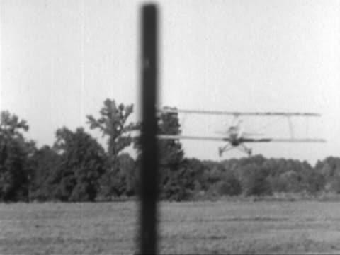 aeroplane crash-landing - biplane stock videos & royalty-free footage