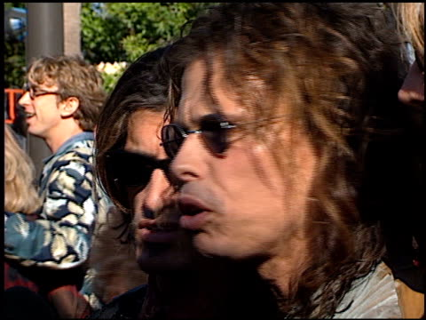 aerosmith at the 1998 mtv video music awards entrances at universal amphitheatre in universal city, california on september 10, 1998. - b roll stock videos & royalty-free footage