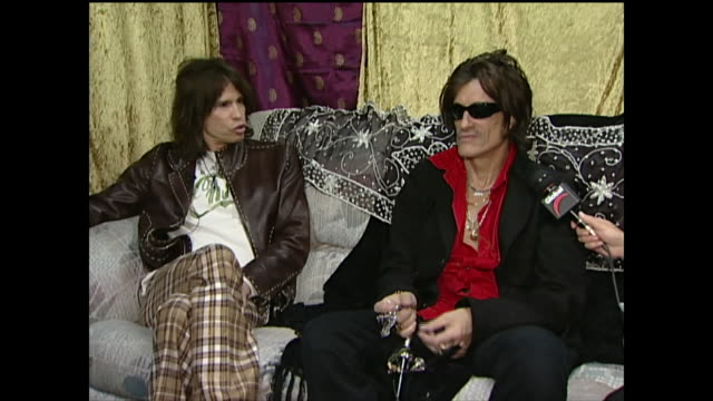 aerosmith talks about spending all their money on beer - steven tyler musician stock videos & royalty-free footage