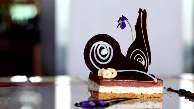 Aesthetically garnished chocolate cake