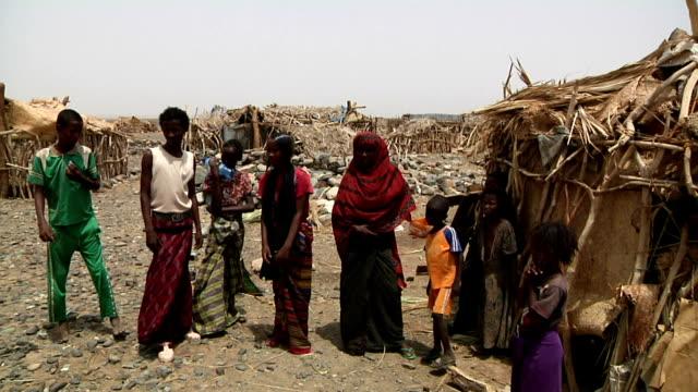 afar family on august 13, 2011 in afar village, danakil depression, ethiopia - ethiopia stock videos & royalty-free footage