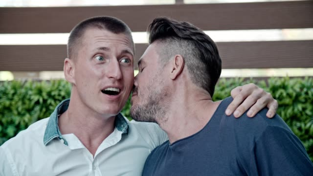 affection moment of gay couple - russian culture stock videos & royalty-free footage