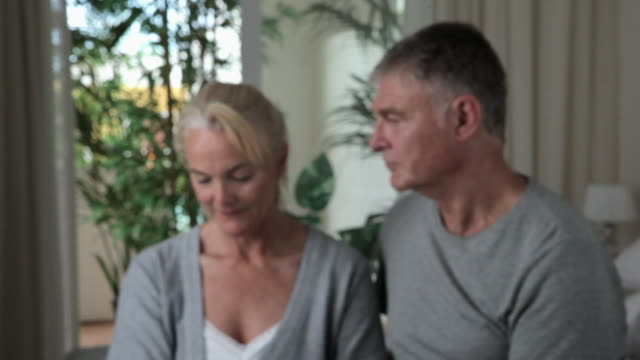 affectionate mature couple, fade in - fade in stock videos & royalty-free footage