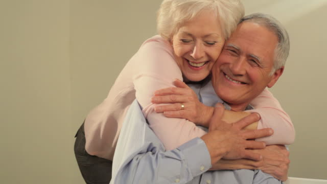 affectionate mature couple - heterosexual couple stock videos & royalty-free footage