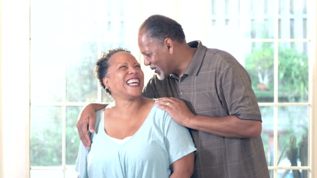 affectionate senior african-american couple - 60 69 years stock videos & royalty-free footage