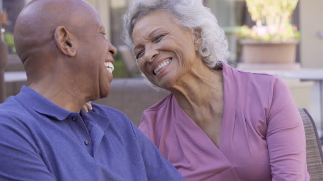 affectionate senior couple, - wife stock videos & royalty-free footage