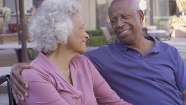 affectionate senior couple, - affectionate stock videos & royalty-free footage