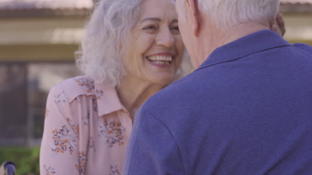 affectionate senior couple, - the ageing process stock videos & royalty-free footage