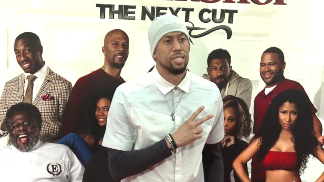 stockvideo's en b-roll-footage met affion crockett at barbershop the next cut los angeles premiere at tcl chinese theatre on april 06 2016 in hollywood california - tcl chinese theatre