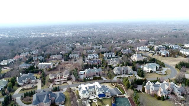 affluent neighborhood aerial footage - new jersey stock videos & royalty-free footage