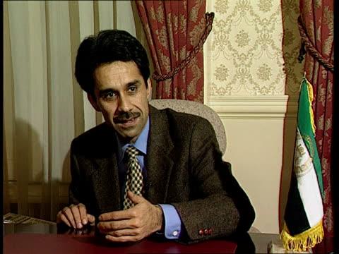 taliban losses:; england: london: int cms ahmad wali masud intvwd sot - we want a demilitarised area inside kabul - kabul stock videos & royalty-free footage