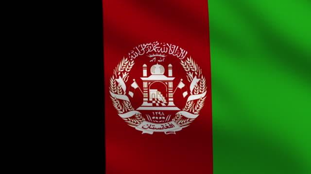 afghanische flagge - afghanische flagge stock-videos und b-roll-filmmaterial