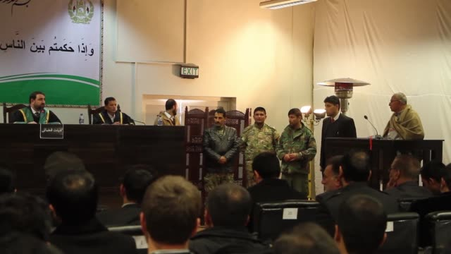 afghan general abdul wasi raoufi speaks during his trial on charges of taking bribe at a court room in kabul afghanistan on january 09 2017 an afghan... - kabul stock videos & royalty-free footage