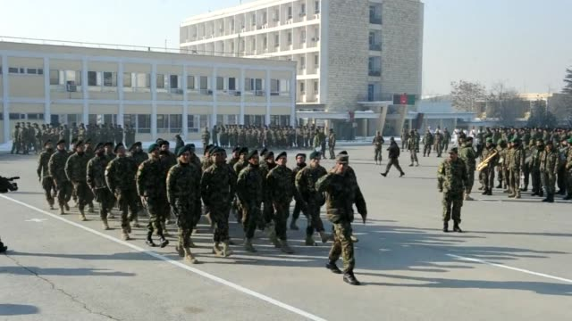 Afghan National Army soldiers attended a graduation ceremony at the Afghan National Army training centre in Kabul on Thursday Kabul Afghanistan