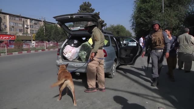 afghan national police officers and afghan national army soldiers work everyday inside the enhanced security zone manning over 25 checkpoints to keep... - afghan national army stock videos and b-roll footage