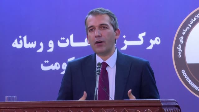 afghan president ashraf ghani had a very good discussion with the us envoy leading efforts to forge a deal with the taliban says a spokesman in a... - discussion stock videos & royalty-free footage