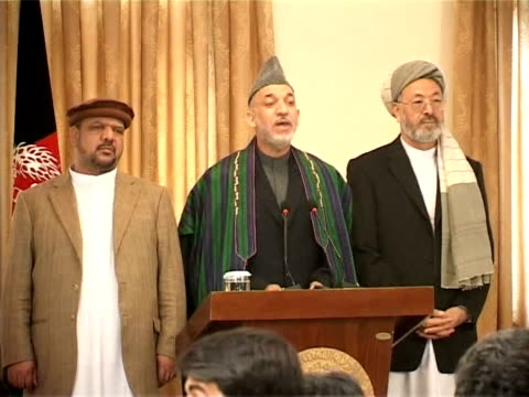 Afghan President Hamid Karzai will be swornin for a second term in office on November 19 ending months of political uncertainly Kabul Afghanistan