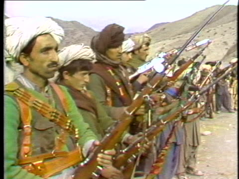 afghan rebels bear arms against the soviet union. - afghanistan stock videos & royalty-free footage