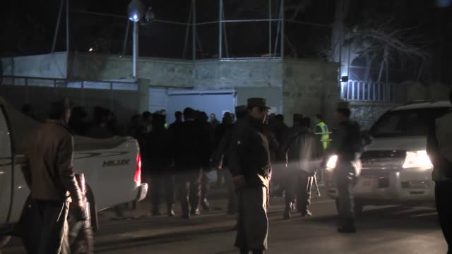 afghan security services stand guard following a suicide bomb attack targeting the frenchfunded istiqlala secondary school home to the french... - music stand stock videos and b-roll footage