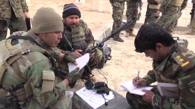 afghan special operators from the ministries of defense and interior conducted joint afghan tactical air coordinator training in herat province... - department of defense stock videos and b-roll footage