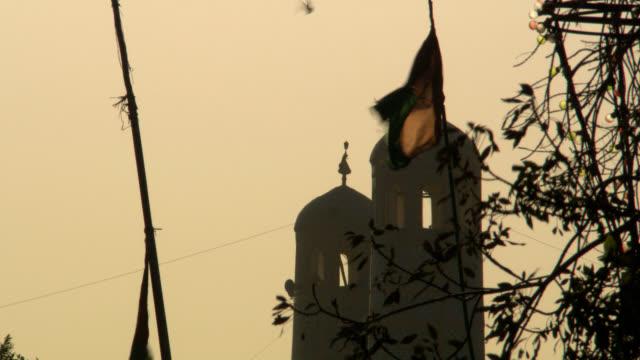 Afghanistan afghanischen Flagge und Moschee