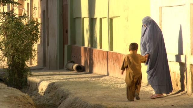 afghanistan. afghan woman with burkha - afghanistan stock videos & royalty-free footage