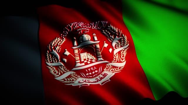 4k afghanistan flagge - afghanische flagge stock-videos und b-roll-filmmaterial