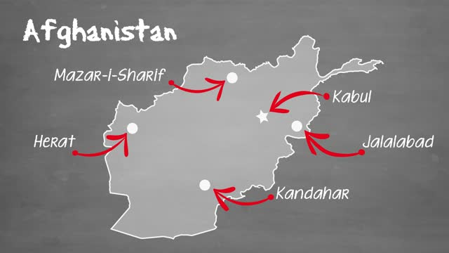 afghanistan map - kabul stock videos & royalty-free footage