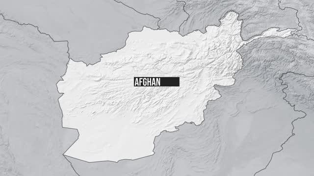 afghanistan map zoom - afghanistan stock videos & royalty-free footage