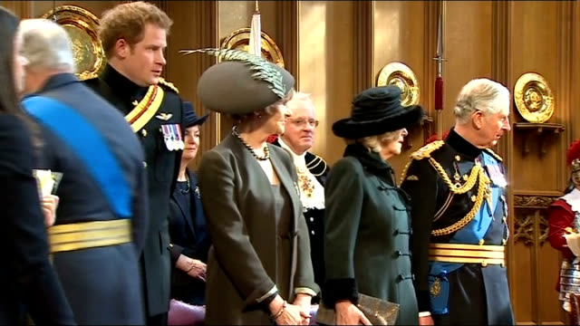 guildhall reception england london guildhall int prince charles prince of wales camilla duchess of cornwall prince harry and prince edward duke of... - memorial event stock videos and b-roll footage