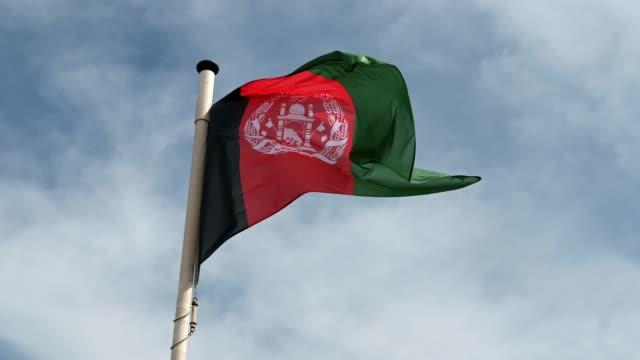 afghanistan national flag - afghanistan stock videos & royalty-free footage