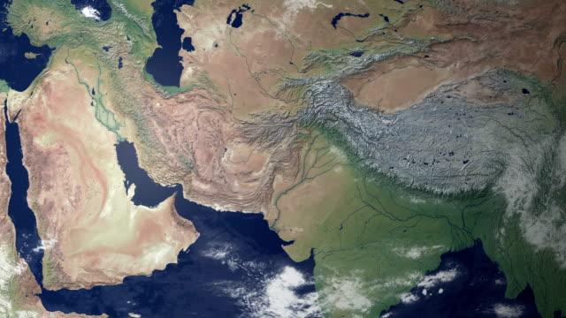 Afghanistan poppt nach Erde zoom (mit alpha-matte