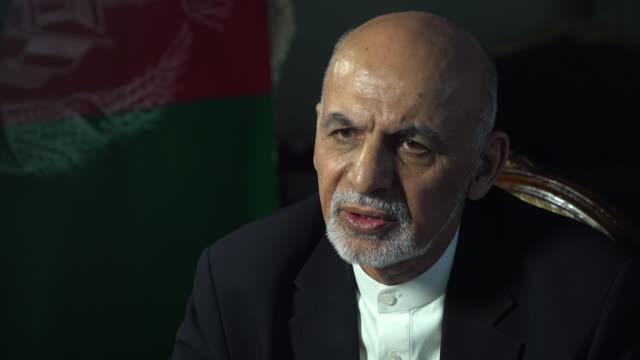 afghanistan president ashraf ghani saying he has no sympathy for citizens who have fled the country during the war - president stock videos & royalty-free footage