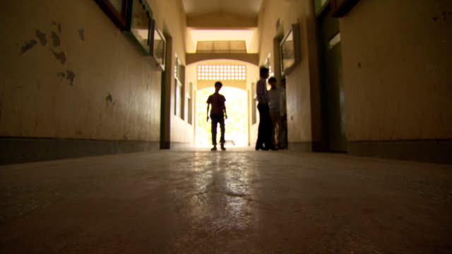 afghanistan school. hallway with students. - crisscross stock videos & royalty-free footage