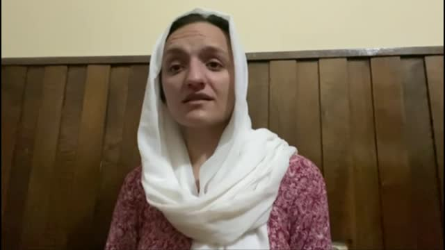 taliban fighters seize control of kunduz in north; location unknown: int zarifa ghafari interview via internet sot - war and conflict stock videos & royalty-free footage