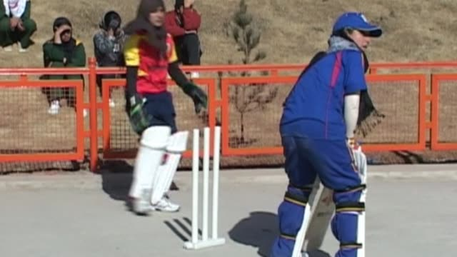afghanistan's first national women's cricket team, many of whom play in headscarves, are practicing for their first matches abroad in a women's... - sport of cricket stock videos & royalty-free footage