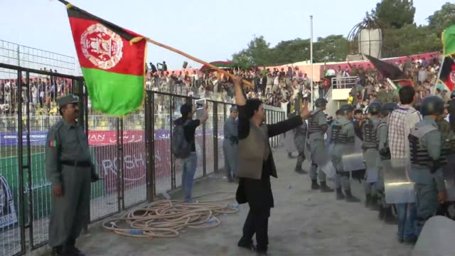 afghanistans football team sparked rowdy celebrations across the war battered nation tuesday after securing a convincing 30 win over arch rivals... - international match stock videos & royalty-free footage
